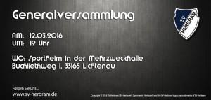 Generalversammlung 2016 Flyer